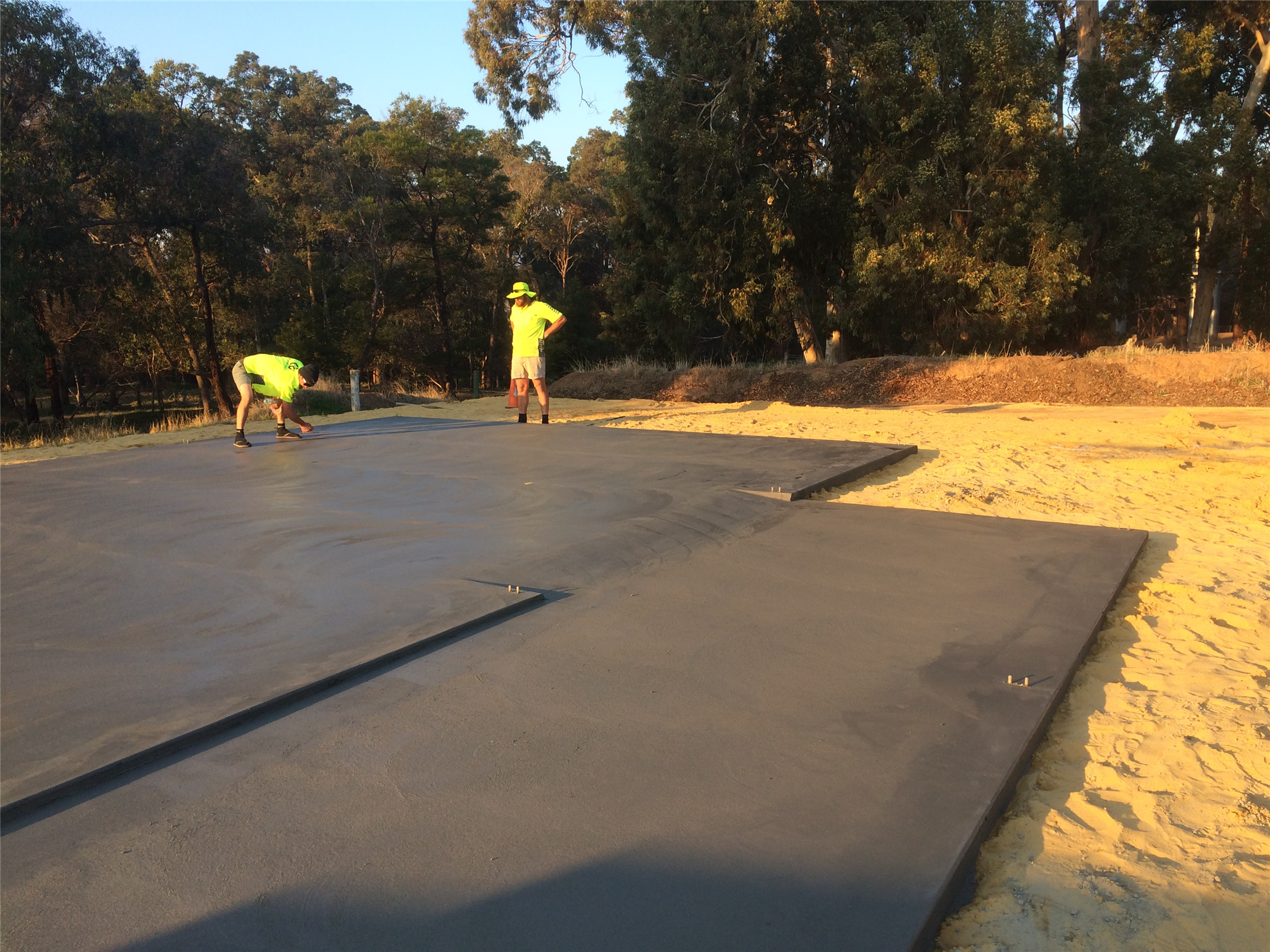 One Brand Spanking New Concrete Pad for the Fairbridge Shed