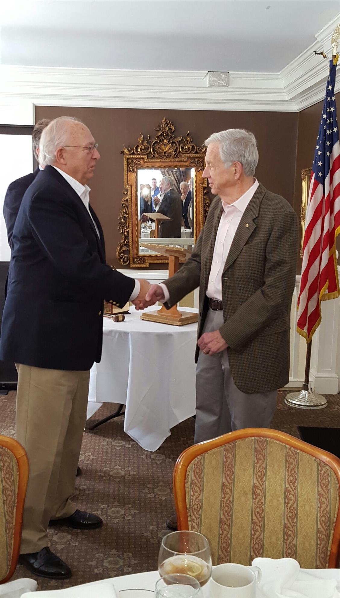 Membership Chair Jim Cole Officially Inducts David Hurwitt
