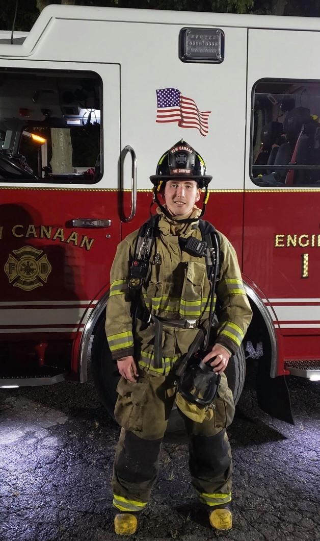2019 Rotary Dorrico Scholarship Award Winner Colin Daniels, a proud volunteer member of New Canaan Volunteer Fire Company No. 1
