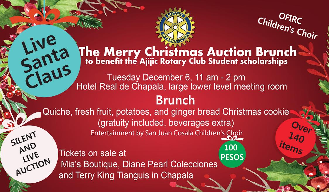 Don\'t miss the Merry Christmas Auction Brunch! | Rotary Club of Ajijic
