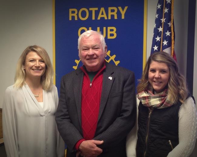 Pictured: Hannah Inman, Dr. Jim Blessman, Sara Aiken