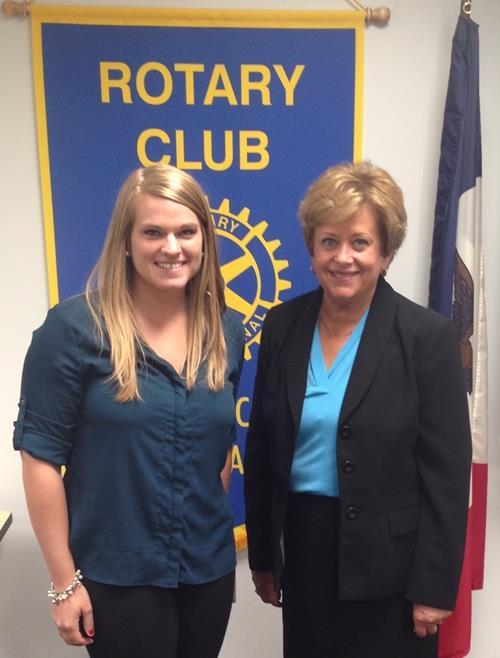 Rotarian Jennifer Gordon and Jane Schorer Meisner of AIB Colleg of Business
