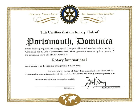 Charter Rotary Portsmouth