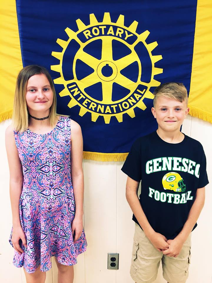 gms 6th graders honored at meeting rotary club of geneseo
