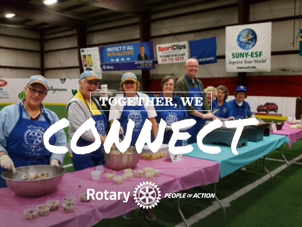rotary people of action rectangle ad - together we connect