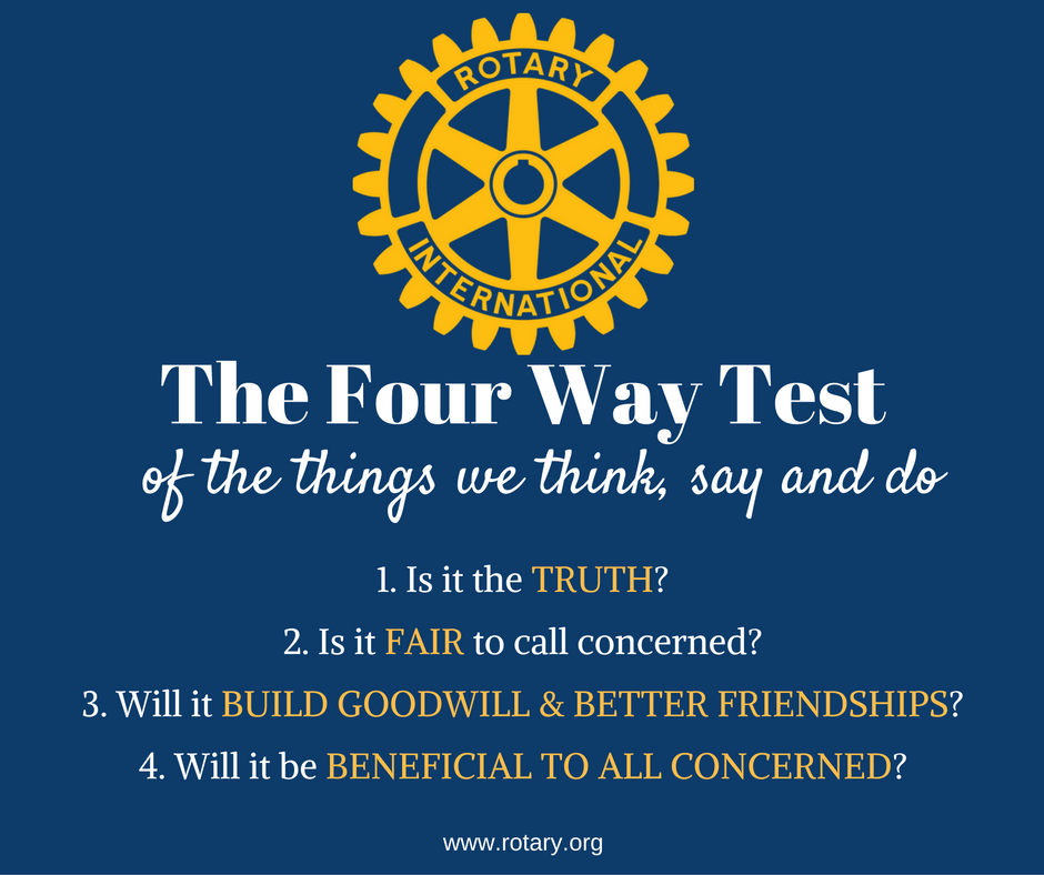 The Rotary Four Way Test