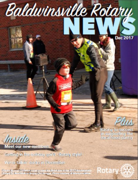 baldwinsville rotary december 2017 club newsletter cover image