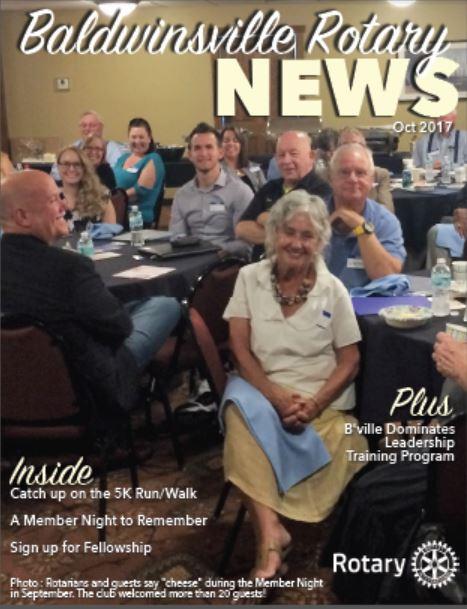 baldwinsville rotary october newsletter cover