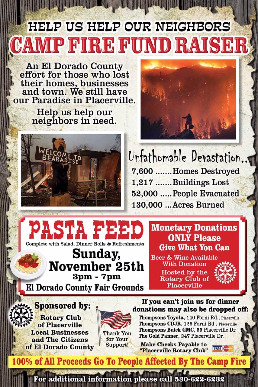 camp fire fundraiser event rotary club of placerville