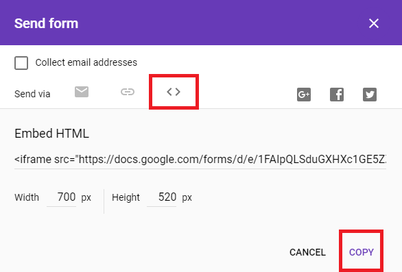 How Do I Create A Form In Google Docs And Post It On My Webpage - Google docs forms