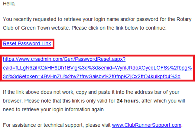 Retrieve Login Name and Reset Password (District) - ClubRunner