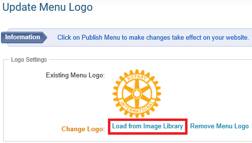 How Do I Upload The Menu Home Icon? - ClubRunner Support Center