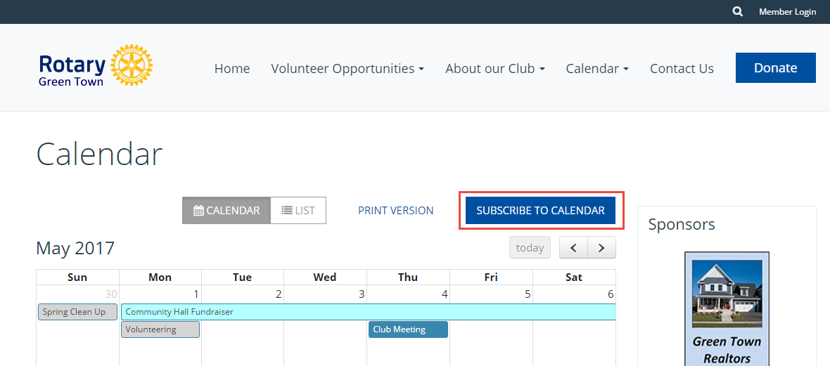 Adding a Calendar Subscription with Google Calendar - ClubRunner
