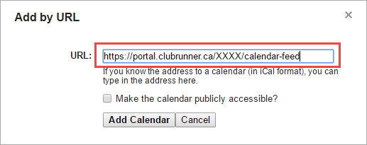 Adding a Calendar Subscription with Google Calendar