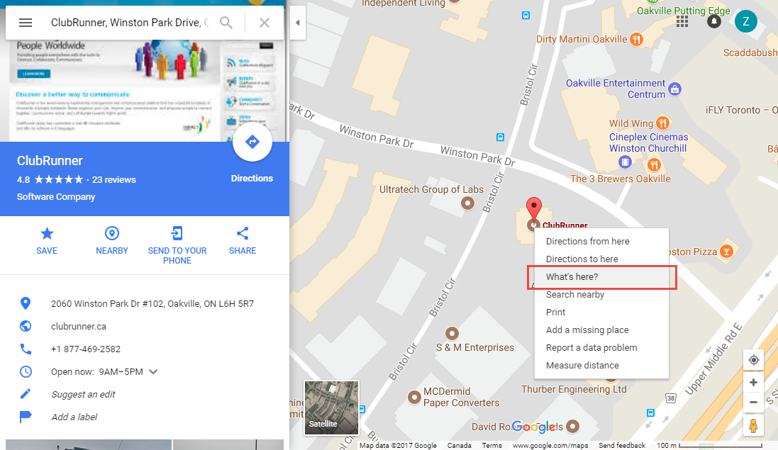 Image of: How To Find A Location S Latitude Longitude In Google Maps Clubrunner Support Center