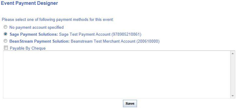 event payment designer
