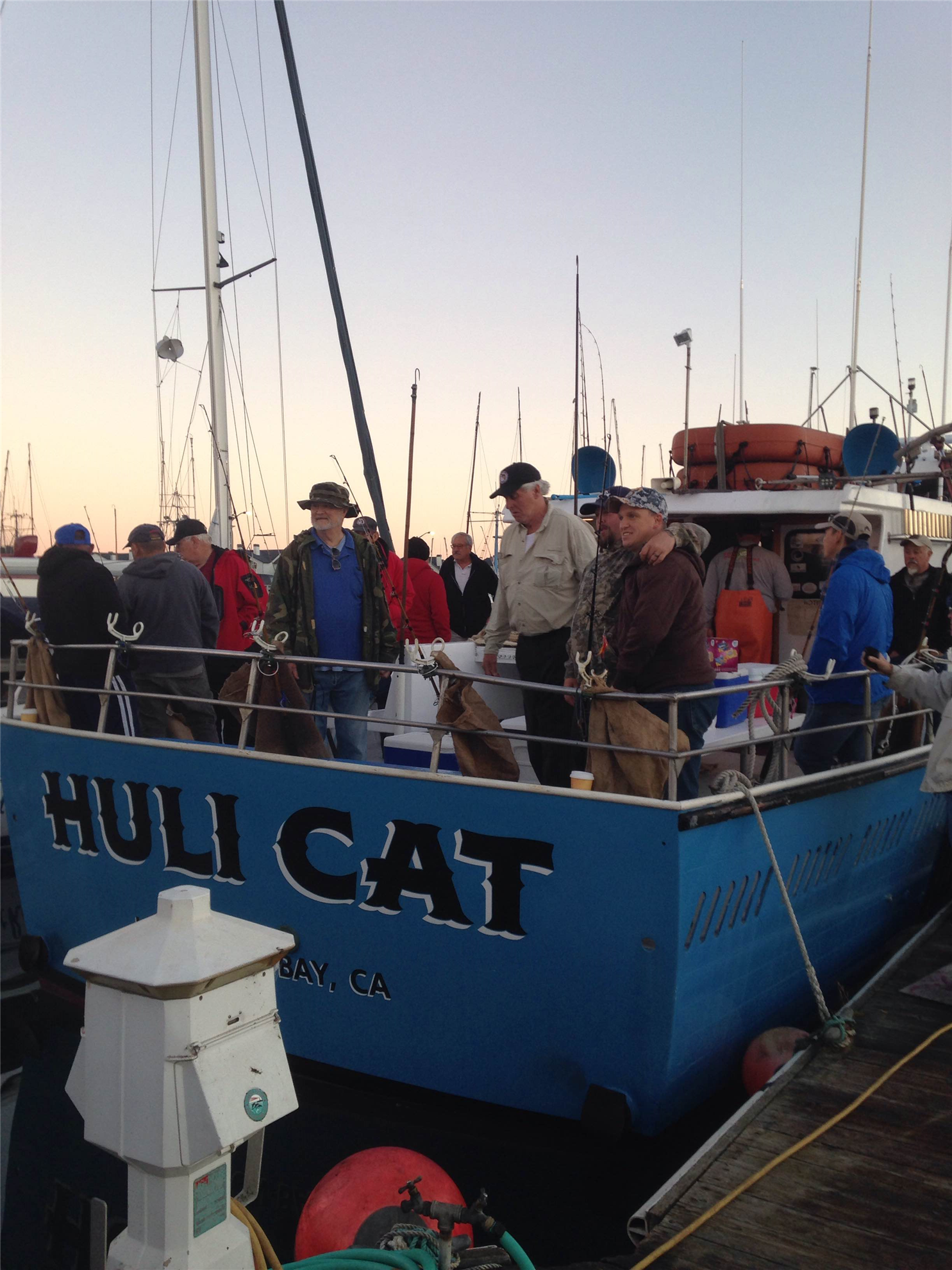 Fishing day for 25 disabled veterans with purple heart for Coastside fishing club