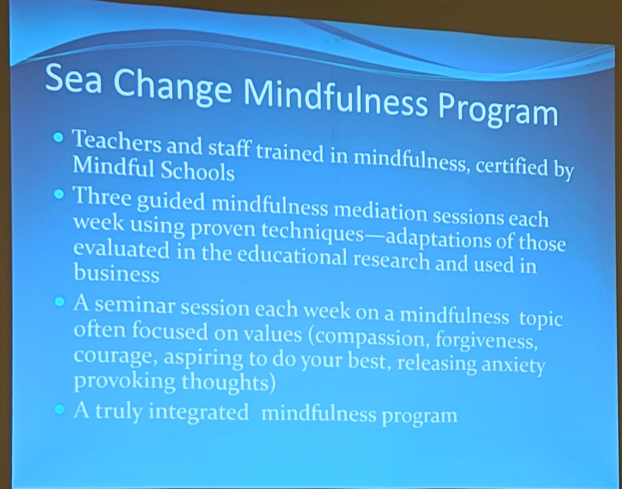 """John teaches a lot of his meditation techniques to the kids at the school.  His theory is that a person can """"control what action one takes on the  thoughts"""", ..."""