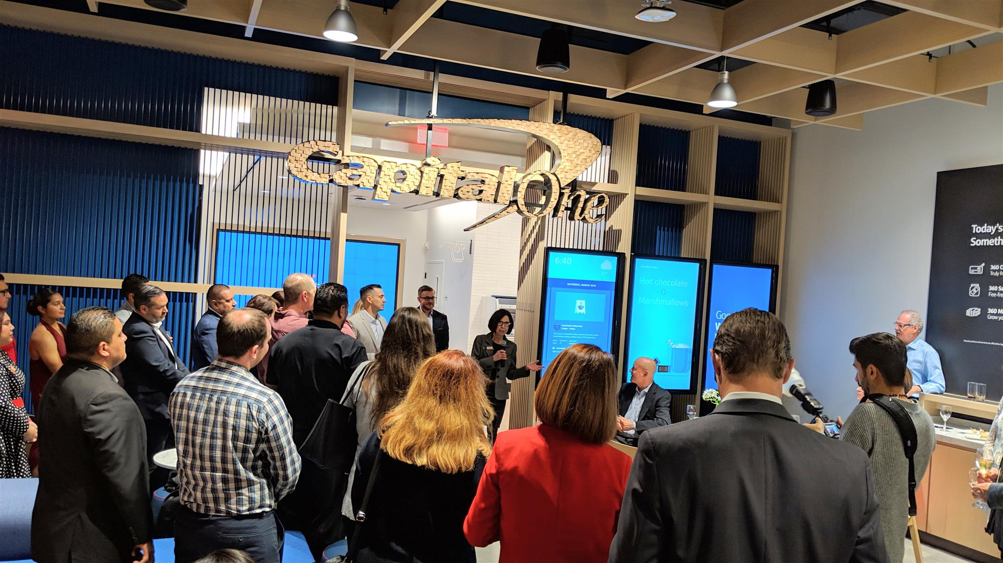 704cb8b4b5f7d4 ... the VIP ribbon-cutting ceremony at the newly launched Capital One Cafe  in the re-modeled Westfield mall in UTC. Our club Rotarian Patricia Case