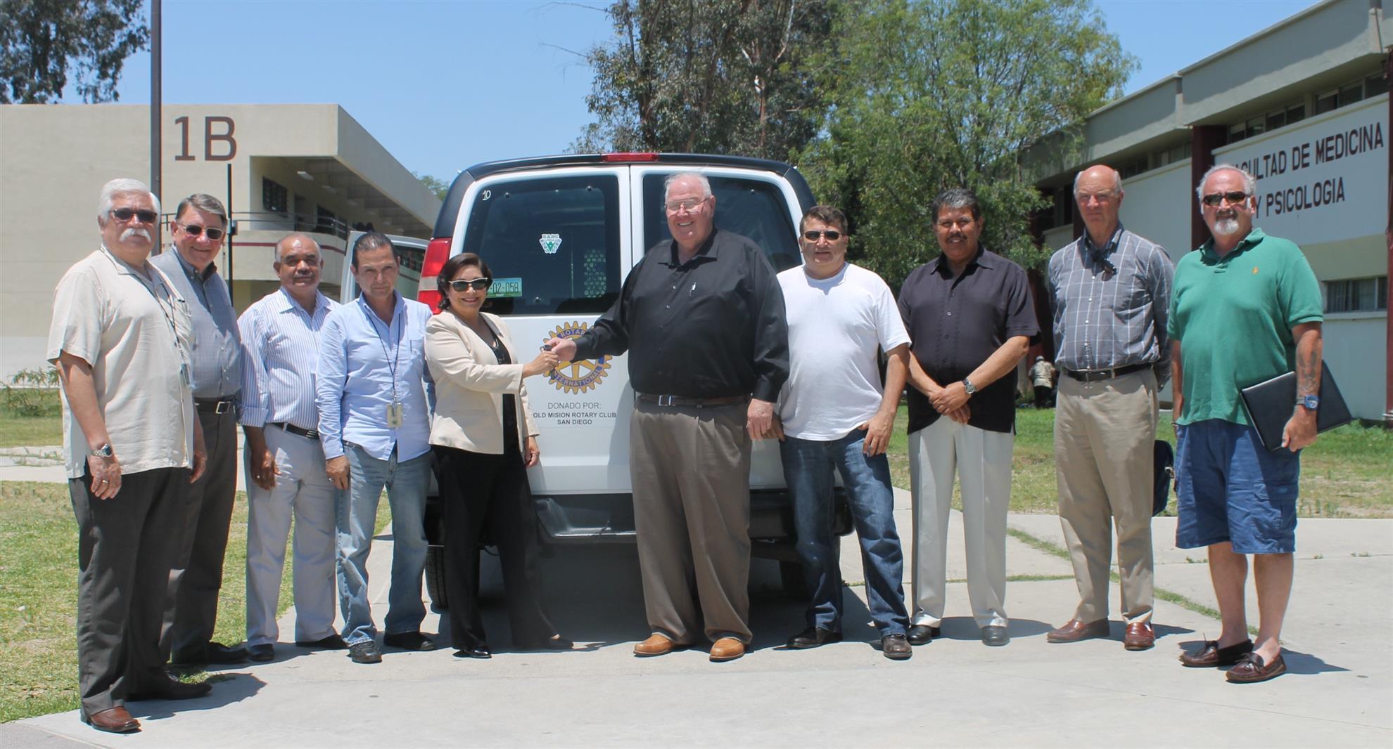 Van Donation to Tijuana Teaching Hospital
