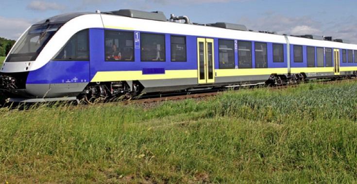 Photo of a passenger train
