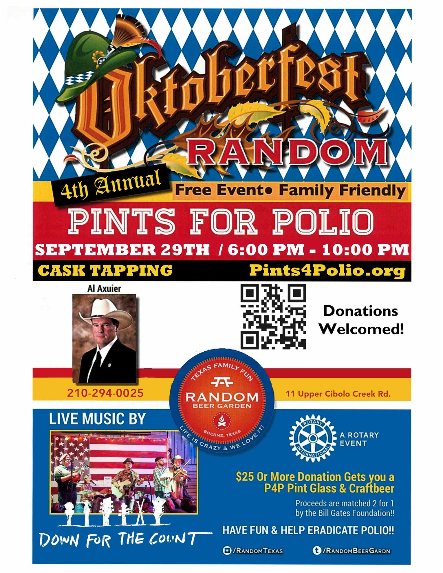 Pints for Polio flyer