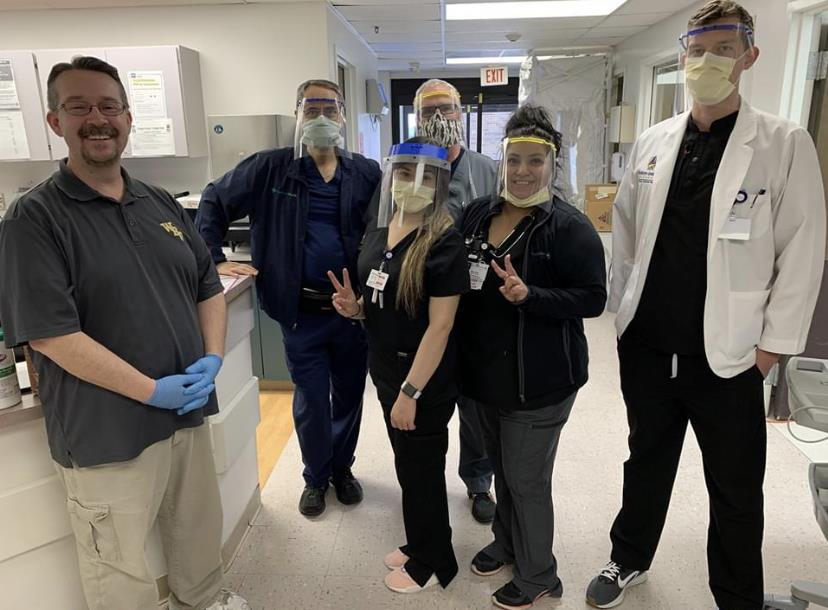 Frankline delivers PPE to Covenant Hospital