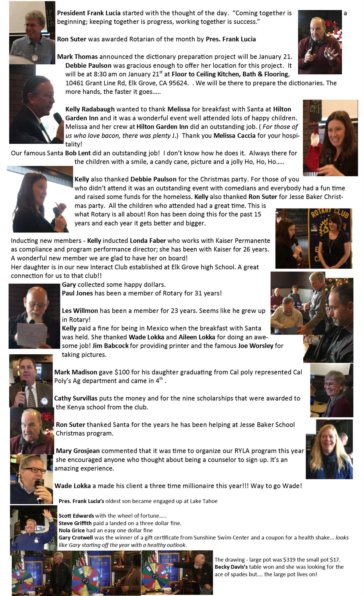 Recap January 4, 2017   Rotary Club of Elk Grove