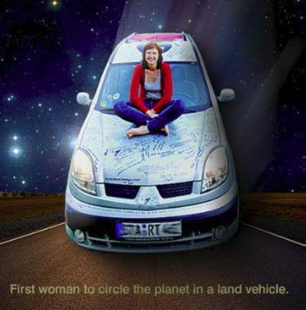 Annette Jahnel and her World Travelled Car