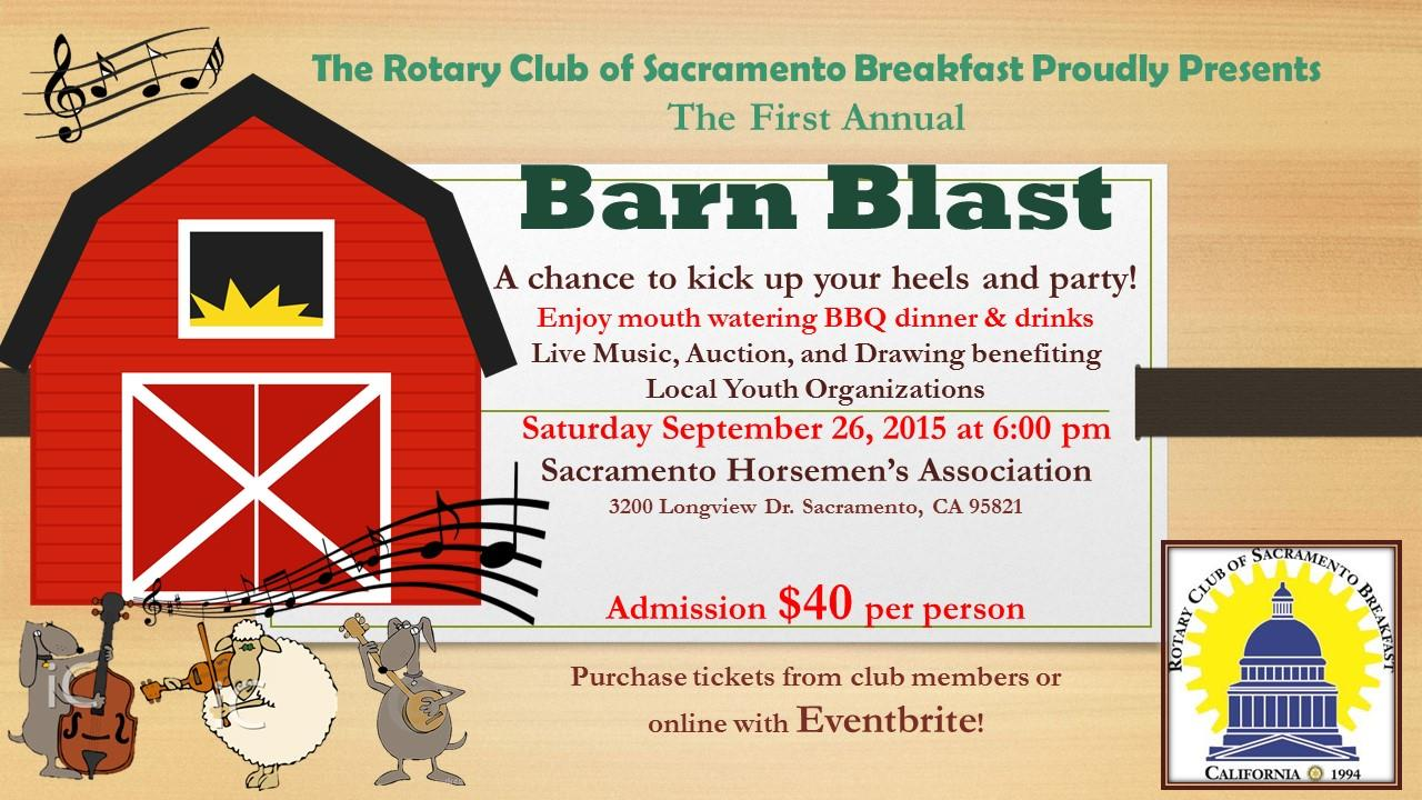 Join us for our First Annual Barn Blast September 26