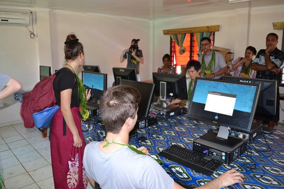 QUT Computers installed in Fijian Schools