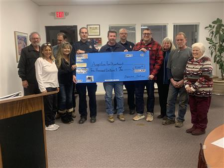 Rotary Raises $10000 for AFFD Defibrillator