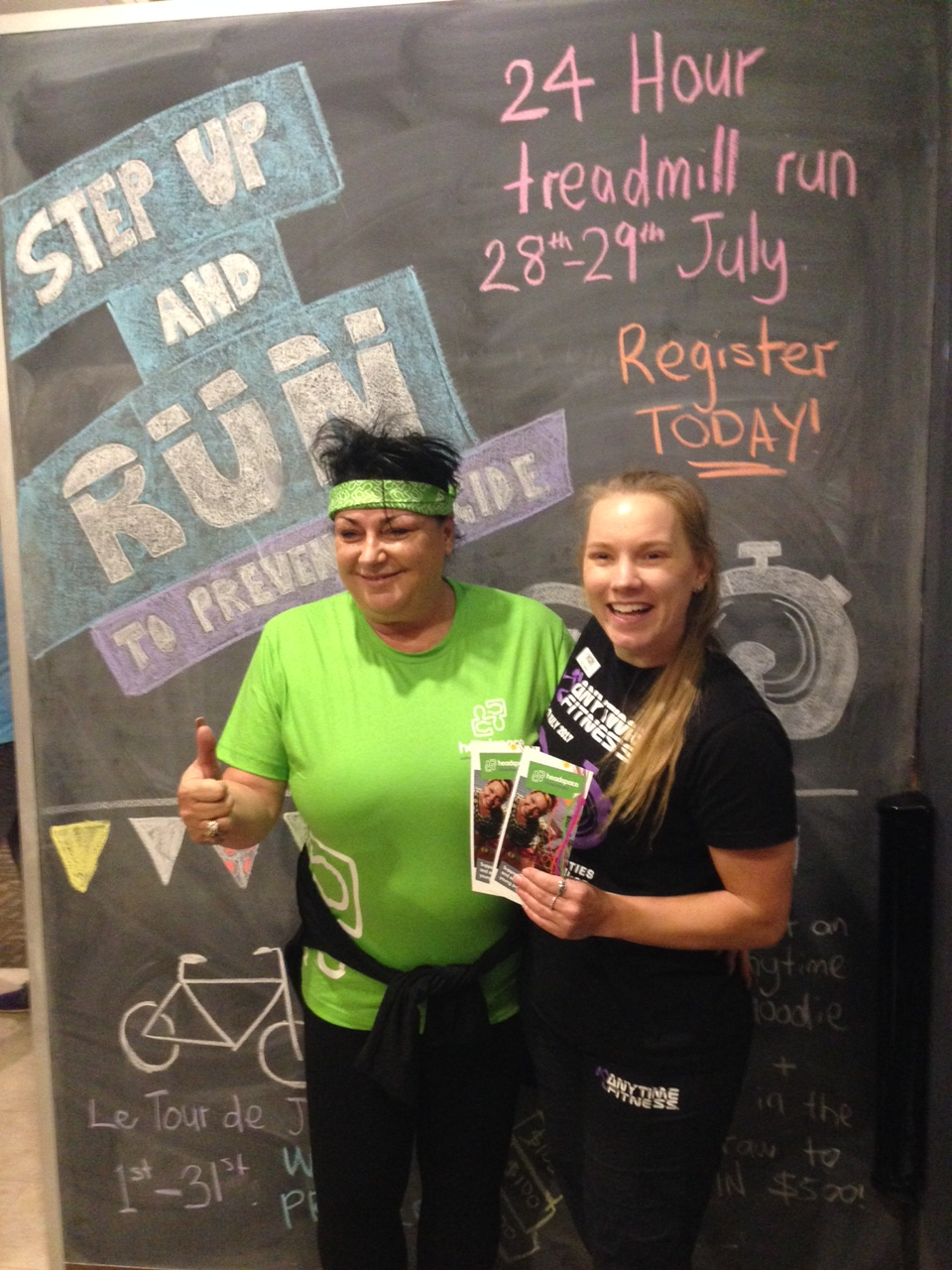 Tegan from Anytime Fitness and Vera from Head Space