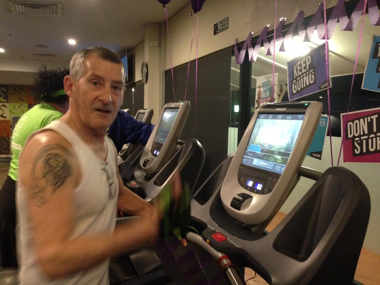 Peter at the Anytime Fitness run-a-thon