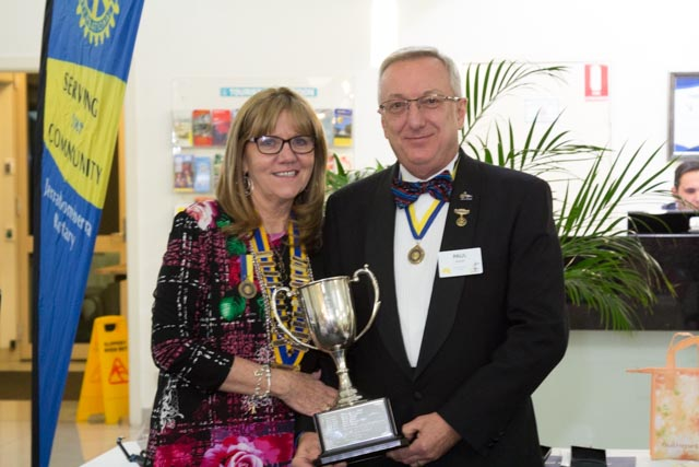 President Mez and 2016 Rotarian of the Year