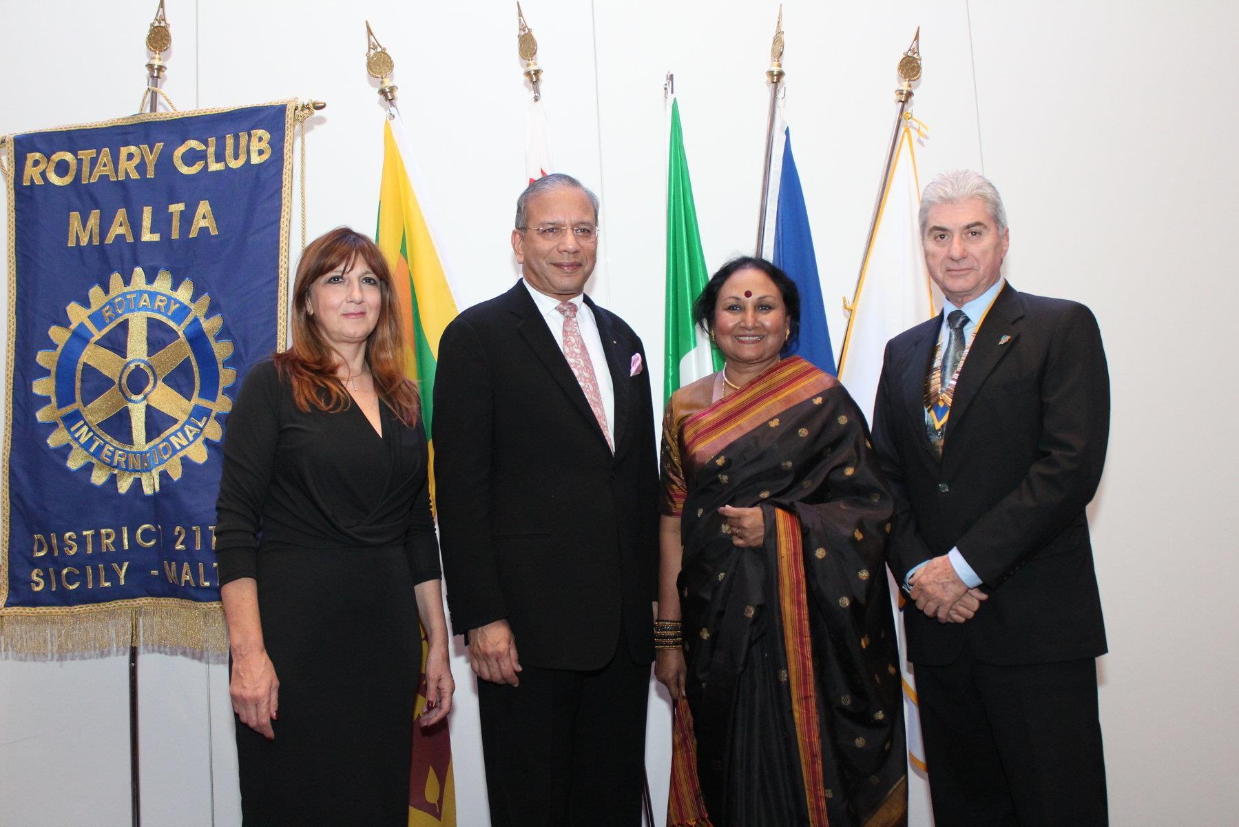 President Ravi with RC Malta President