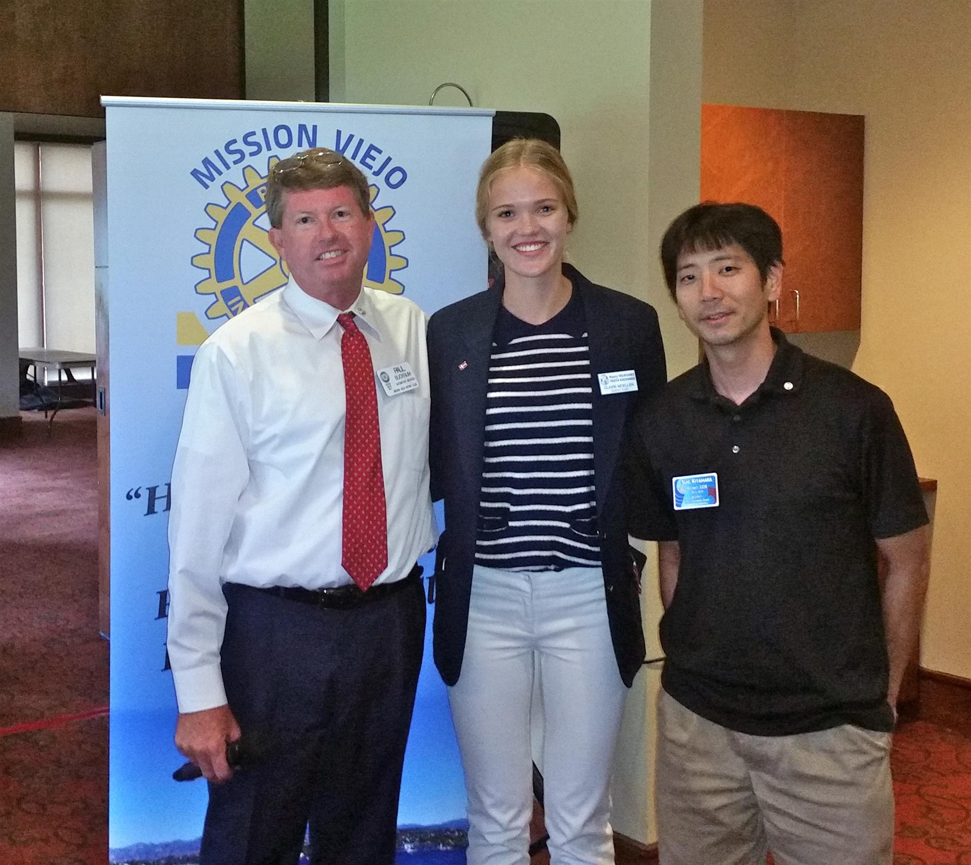 Ms. Claire Moeller, Rotary Youth Exchange Student