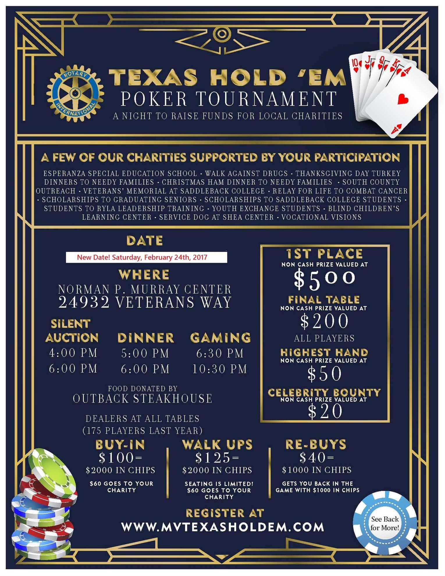 Texas Hold 'Em | Rotary Club of Mission Viejo