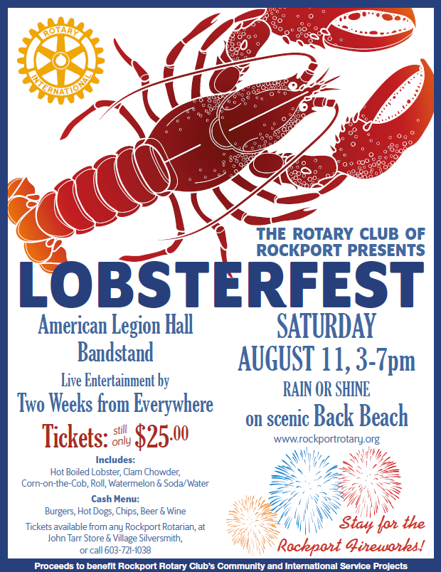 The Rotary Club of Rockport Presents Lobsterfest!