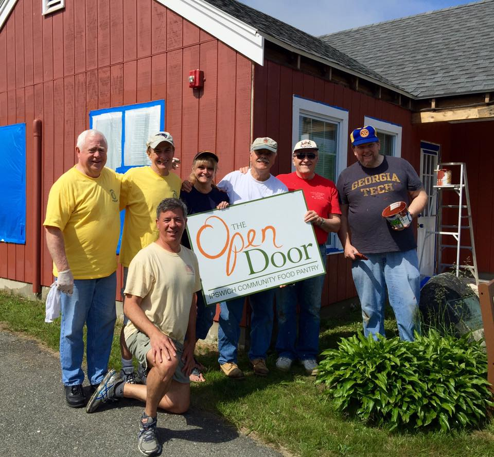 ipswich rotary paints new food pantry rotary club of ipswich