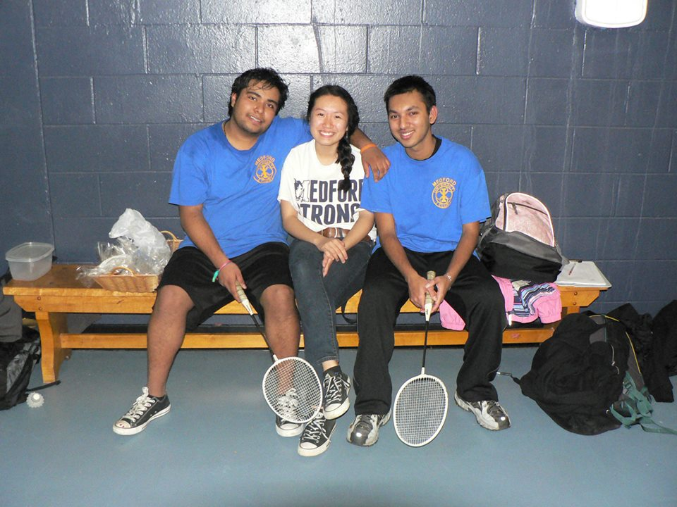Interactors after badminton