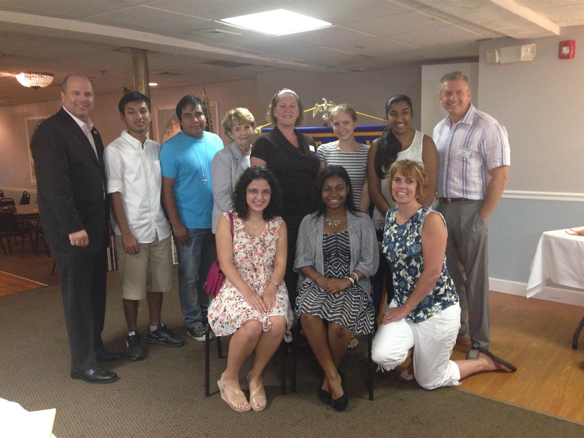 Medford Rotary and Interact present a donation to Ashraya Initiative