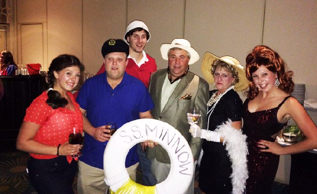 26dc26a284ad1 Six members of the Swanfeldt family portraying members of the cast of Gilligan s  Island.