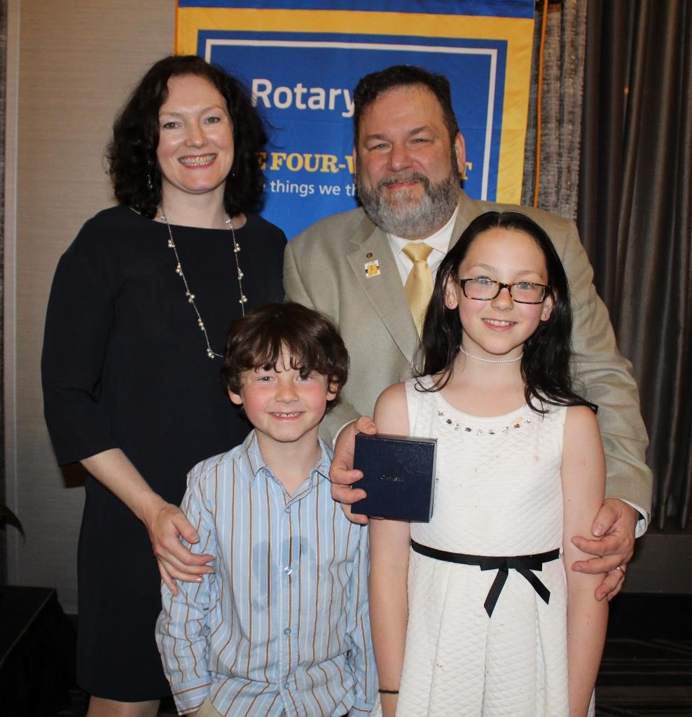 2018 Chelsea Rotarian of the Year Todd Taylor and Family