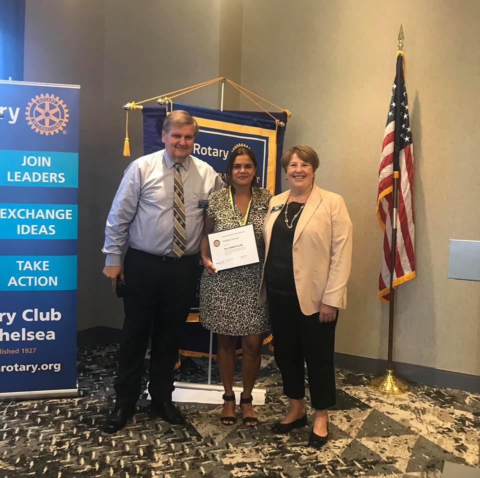 Congratulations to Rotarian Madelyn García for becoming a Paul Harris Fellow!