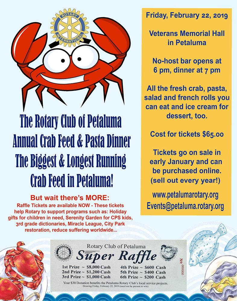 annual crab feed and pasta dinner