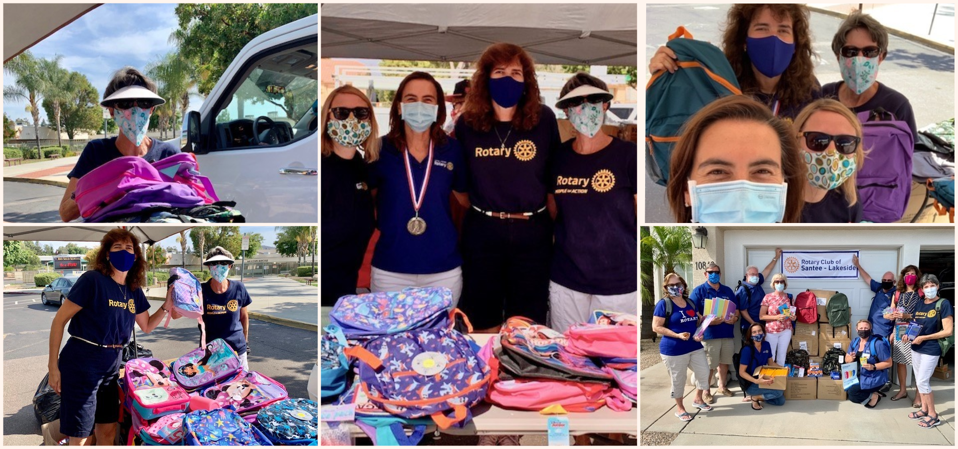 District 5340 Buddy's Backpack  Santee Lakeside Rotary