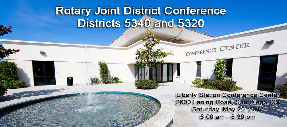 Rotary Club of San Marcos, California - Joint District Conference, May 20th