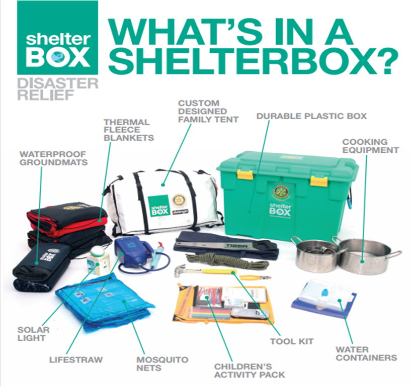 Bronze Award for Shelter Box support | The Rotary Club of Springwood Inc.