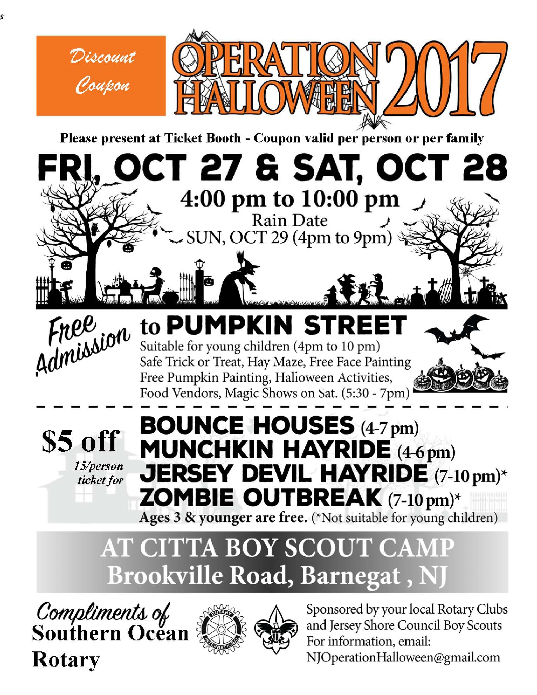 Operation Halloween 2017 | Rotary Club of Southern Ocean (Manahawkin)